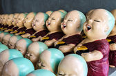 Little buddhist monk dolls — Foto de Stock