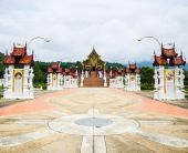 Ho kham luang, the northern thai style building in royal flora expo, chiang mai, thailand — Stock Photo