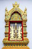 Church window in temple Thailand — Stock Photo