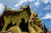 Temple Church with naga stutue in thailand — Stock Photo