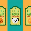 Set of healthy pet food labels and stickers. vector illustration — Stock Vector #77469040