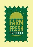 El sello de productos de granja frescos. Ilustración de vector — Vector de stock
