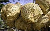 泰国手工竹鱼容器 — 图库照片