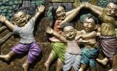 Local Amusement of Thai Children called RE RE KHAO SAN — Stock Photo