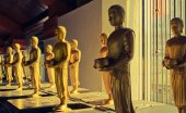 Little Standing Buddha Image in Row — Stock Photo