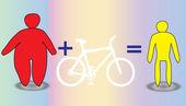 男人和女人苗条骑自行车 — 图库矢量图片