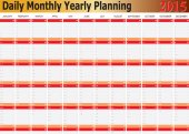 Daily Monthly Yearly Planning Chart Year 2015 — Stock Vector