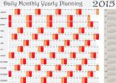 Planning Chart of Daily Monthly Yearly 2015 — Stock Vector