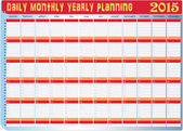 Planning Chart of All Daily Monthly Yearly 2015 — Stock Vector