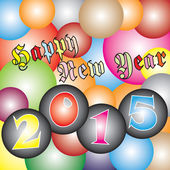 Happy New Year 2015 Celebration Festival Light Colorful ball — Stockvektor