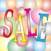 Sale on Light Colorful ball Festival — Stock Vector