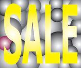 Sale on Light Two Tone Ball Festival — Stock Vector