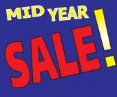 Mid Year Sale Promotion Label — 图库矢量图片