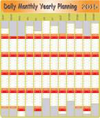 Daily Monthly Yearly 2015 Planning Chart — Stock Vector
