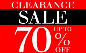 Clearance Sale up to 70 Percents Promotion Label — Stock Photo