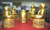 Little Golden Seated Buddha Image — Stock Photo