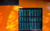 La cloison en bois coloré — Photo