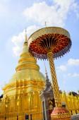 Golden Pagoda and blue Sky — Stock Photo