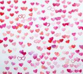 Watercolor hearts — Stock Photo