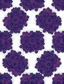 Reticolo con i fiori viola di disegno — Vettoriale Stock