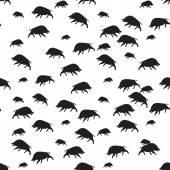 Wild boar or warthog seamless pattern — Stock Vector