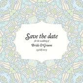 Beautiful abstract wedding invitation — Stock Vector