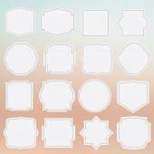 Set of elegance grey framed labels — Stock Vector