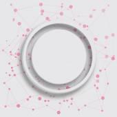 Grey circle on pink dots — Stock Photo