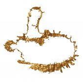Golden inky splash — Stock Vector
