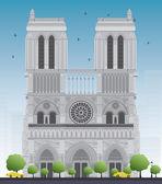 Katedra Notre dame - Paryż — Wektor stockowy