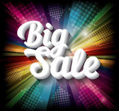 Big Sale banner on rainbow background — Stock Vector