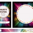 Club Flyers with copy space and rainbow background — Stock Vector #76941479