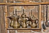 Copper coffee pots east type — Stock Photo