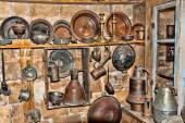Old utensils in a junk shop — Stock Photo