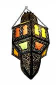 Decorative chandelier with elements of stained glass — Stock Photo