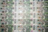 Poland currency zloty - PLN - in notes 100 — Stock Photo