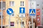 Road sign warning — Stock Photo
