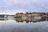 Old Town at dawn. Stockholm. — Stock Photo