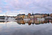 Old Town at dawn. Stockholm. — Foto de Stock