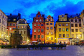 Old houses in Stockholm — Stock Photo