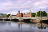 Sodermalm district. Stockholm. — Foto de Stock