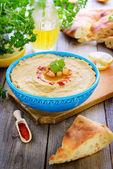 Homemade hummus — Stock Photo
