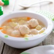 Soup with meatballs — Stock Photo #59850053