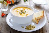 Pumpkin cream soup — Stock Photo