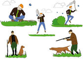 Illustration of Butterfly - Hunt, Hunting, Hunting dog, dog - Vector — Wektor stockowy