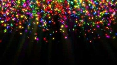 Colorful Confetti — Stock Video