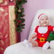 Little boy in Santa clause costume — Stock Photo #55499401