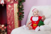 Little  boy in Santa clause costume — Stock fotografie