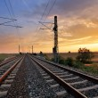 Dramatic sunset over railroad — Stock Photo #51839699