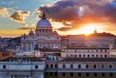 Rome, Vatican city at sunset — Stock Photo